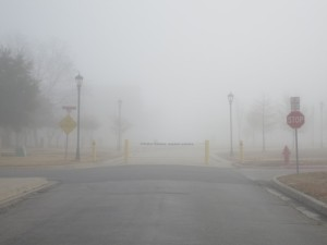 Stop! Do not enter the fog!